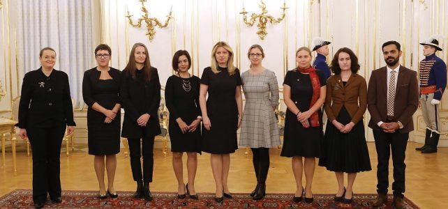 Aktivistky a aktivisti proti násiliu na ženách u prezidentky